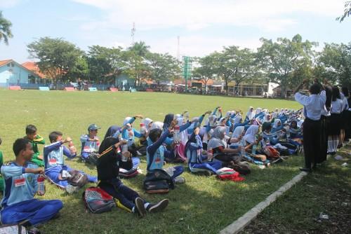Latgab Paskibra Sekolah se-Kecamatan Cariu
