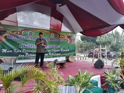 Camat cariu menutup acara MTQ Tk.kecamatan Cariu