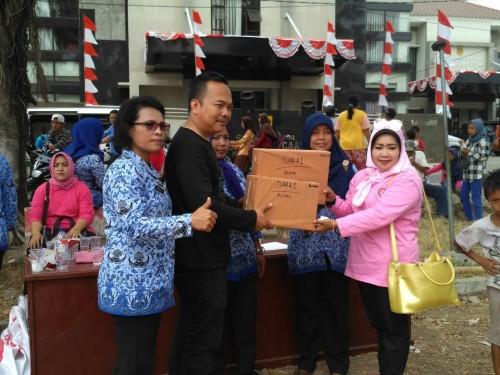 UPT Puskesmas Juara di HUT RI 72 Kecamatan Cariu