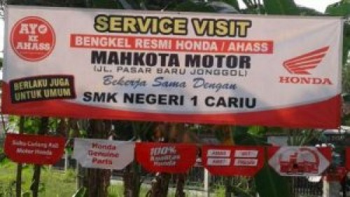 Even Gratis Service Motor Honda SMKN 1 Cariu