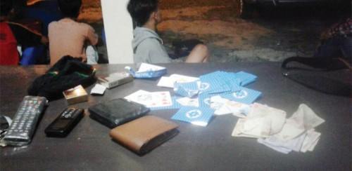 Polsek Cariu Bubarkan Judi di Area Cirau Bogor