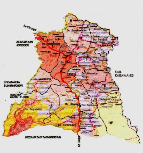 Peta Tata Ruang Wilayah Kecamatan Cariu